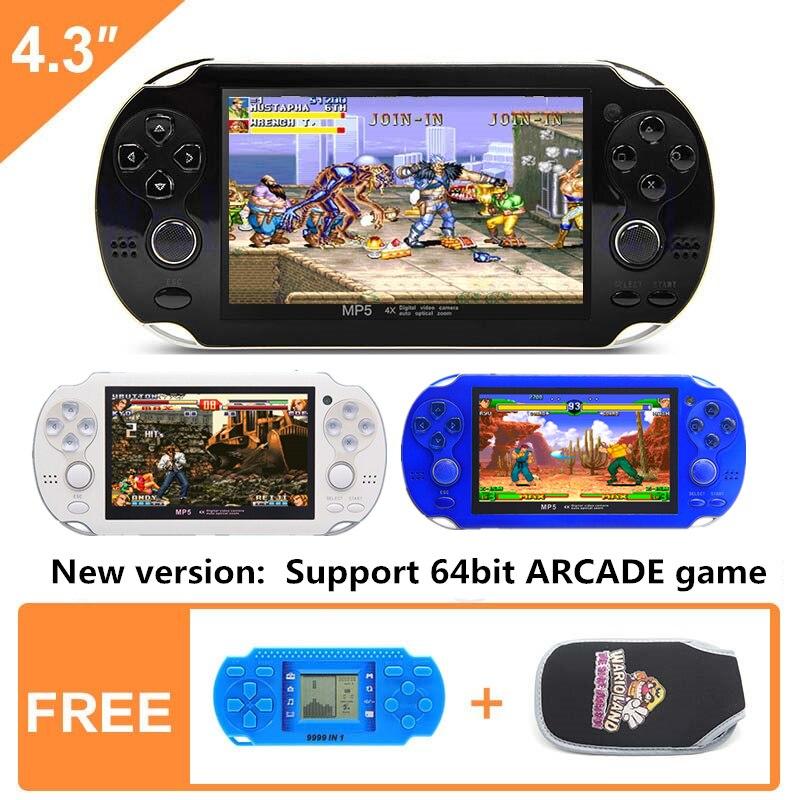 Nouveau 4.3 pouce 64bit 8 gb Console de Jeu Portable Portable Jeu Vidéo Console construire en 1395 jeu d'arcade gba snes nes gbc smd