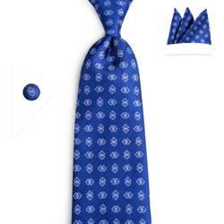 DiBanGu 2019 классический синий галстук 100% шелковый галстук ручной работы для Для мужчин 8 см Широкие Галстуки Бизнес Свадебный галстук комплект