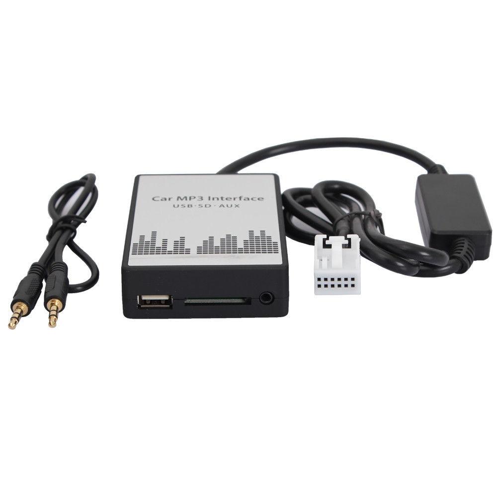 Moonet Car cd Digital USB SD MP3 Aux 3.5mm Interface Audio Adapter for Peugeot RD4 QX388 цена 2017