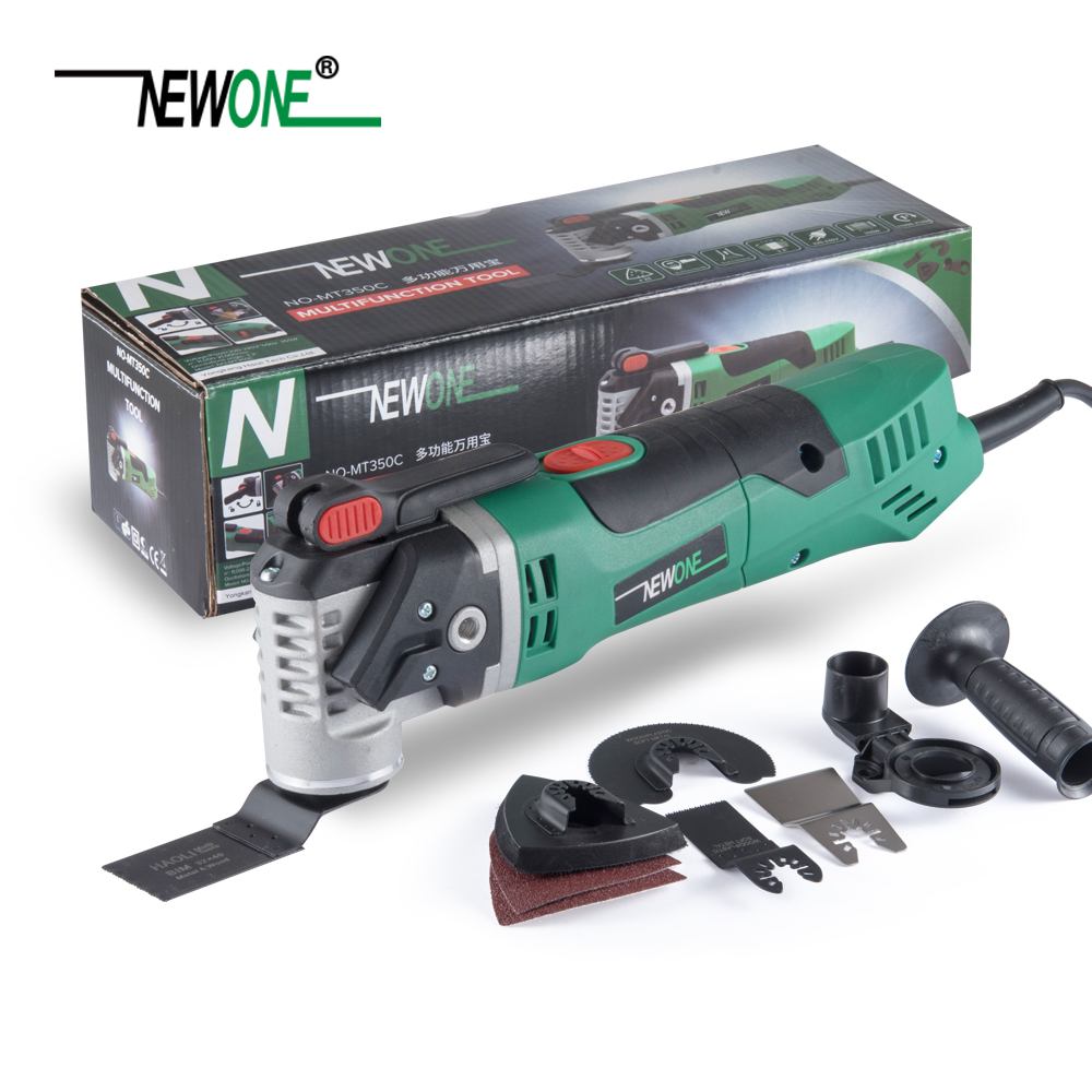 Basic Set NEWONE 350W Quick Release Electric Power Tool Variable Speed RotatingOscillating Multi-Tool Kit Multi Function