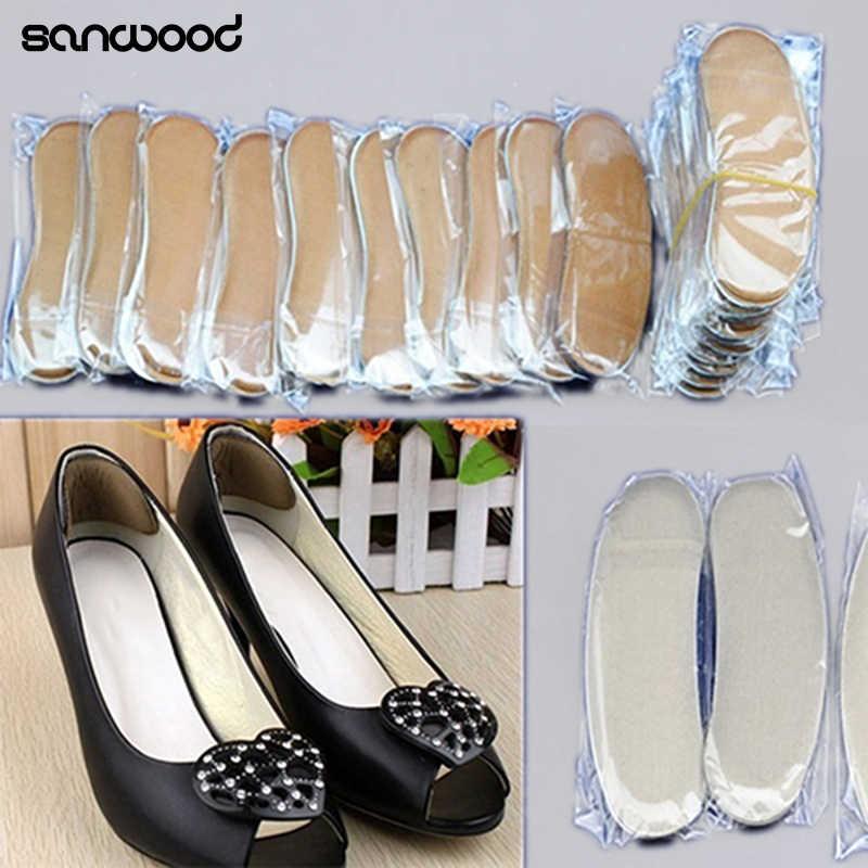 5 คู่ยืดหยุ่น Heel Liner ฟองน้ำแทรกซิลิโคน Heel Pad สำหรับรองเท้า Inserts Insole รองเท้าส้นสูง Cushion