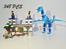 Model building kits compatible with lego the sky dragon my worlds Minecraft 548 pcs model building toys hobbies for children