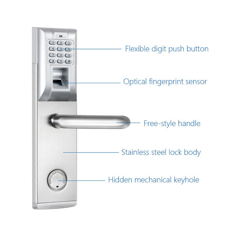 Fingerprint door lock digital biometric electronic with for 1 touch fingerprint door lock