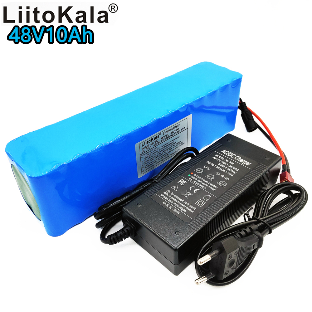 Liitokala new 48V 10ah lithium-ion battery pack 18650 bms rechargeable battery 10000 mAh for electric bicycles