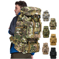 70L Molle Camo Tactical Backpack Military Army Waterproof Hiking Camping Backpack Travel Rucksack Outdoor Sports Climbing Bag