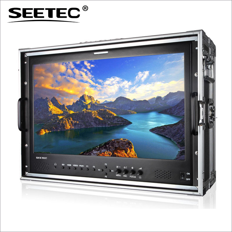 P215-9HSD-CO 21.5 Inch Broadcast Monitor with 3G-SDI HDMI AV YPbPr IPS Seetec 21.5inch Full HD Carry-on LCD Director Monitors