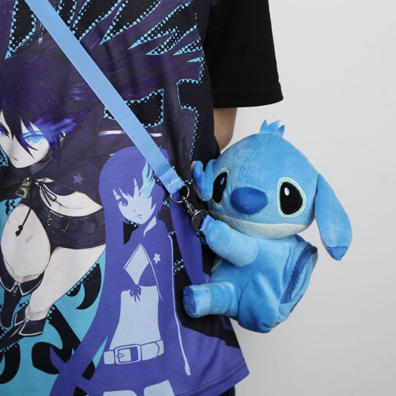 Cute Lilo Stitch stitch plush backpacks kawaii messenger bag cartoon bag Free Shipping