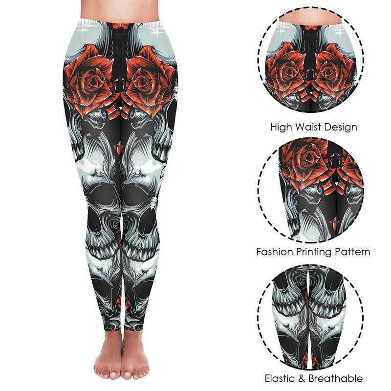 スカルプリント女性フィットネスレギンス痩身ハイウエストトレーニングパンツふん! アップストレッチランニングスポーツトレーニング通気性