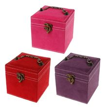 Portable Three Layer Jewelry Box Earrings Ring Bracelet Storage Hand-Held Boxes