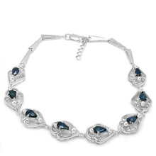5c5ad64360c9 2017 Qi Xuan Free libre Starlight piedra azul oscuro Bracelets S925 de  plata maciza Bracelets Manufacturer ventas directamente