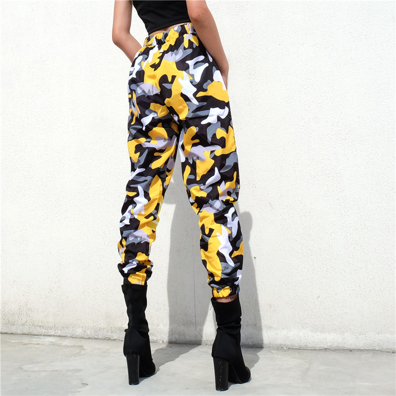 ebd580d85a8d6 Sweetown Harajuku Camo Cargo Pants Women 2018 Bomber Street Style Pantalon  Camouflage Femme Womens High Waist Joggers Sweatpants-in Pants & Capris  from ...