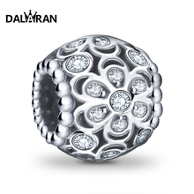 DALARAN 925 sterling silver beads charm flowers popular wild European bracelet necklace jewelry accessories