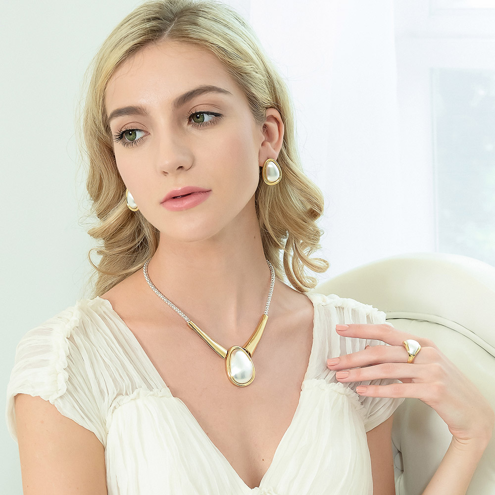Viennois New Rose GoldSilverGold Color Jewelry Set for Woman