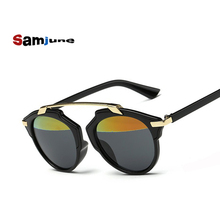 Samjune New Fashion Cat Eye Sunglasses Women Brand Designer Vintage Sun Glasses Men Women UV400 Glasses Oculos De Sol Feminino