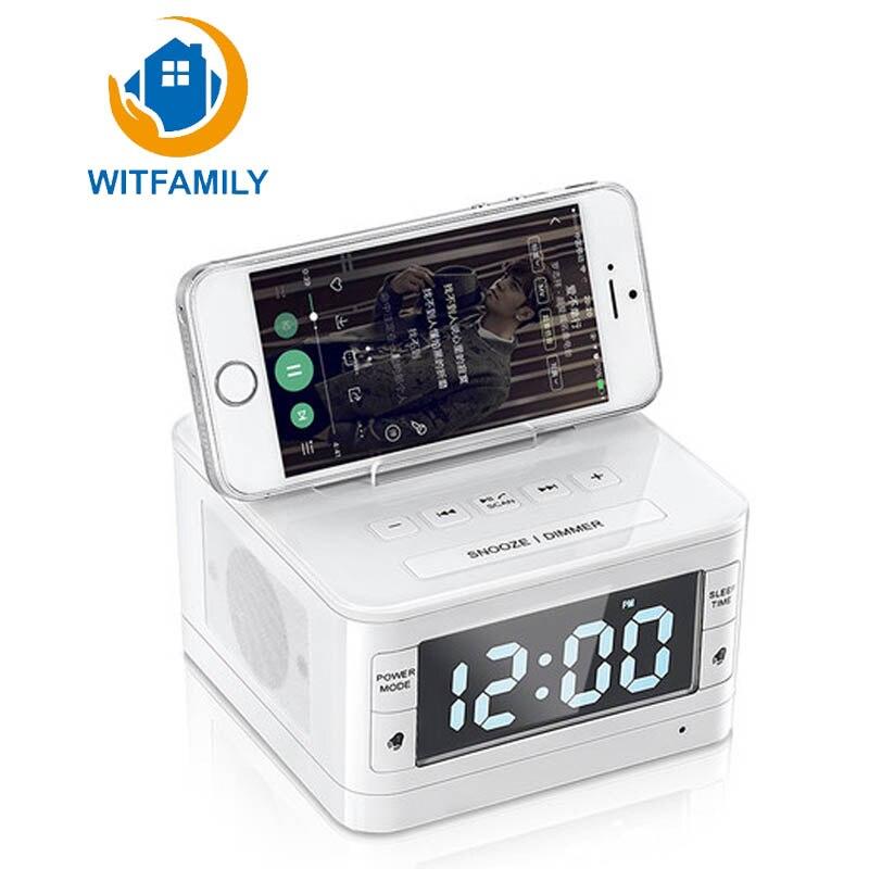 Apple Audio Andrews Bluetooth réveil maison multi-fonction sans fil Bluetooth Radio réveil goutte avec fonction d'appel
