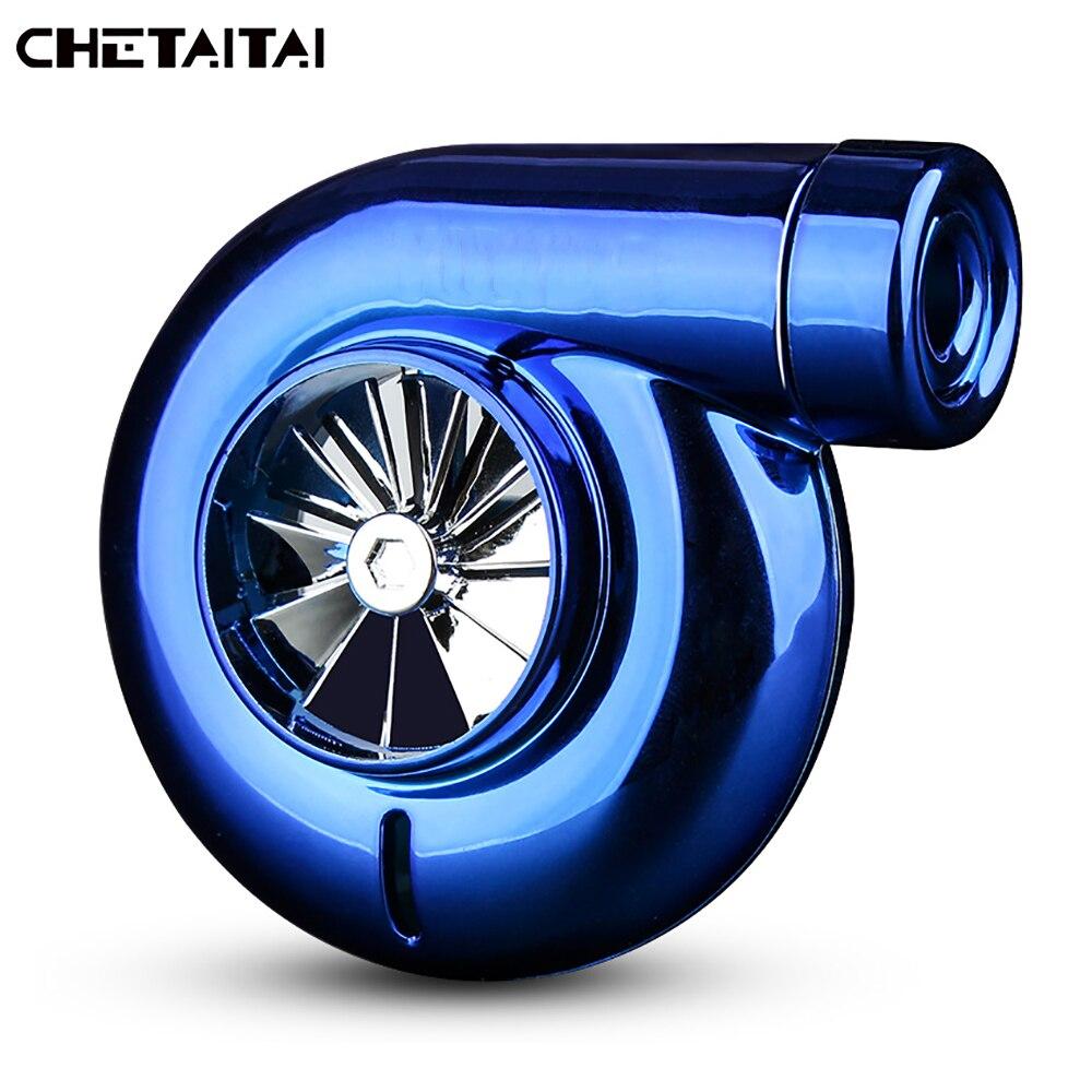 Chetaitai Voiture Évent Pince Air Désodorisant Turbocompressé Modèle Accessoire Et Ornement Climatiseur Ventilation Aromathérapie Bleu