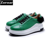 Zorssar Brand 2017NEW Fashion Leisure Women Platform Loafers Female Casual Flat Sport Shoes Genuine Leather