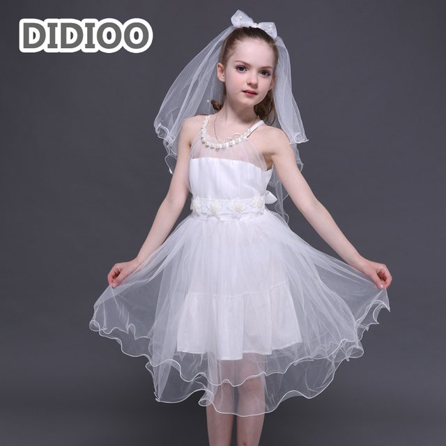 Flower Girls Wedding Dresses Elegant Mesh Tulle Dresses For Girls ...