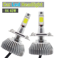 H4 HB2 9003 40W LED Light 4000LM White Car Motorcycle Replacement Headlight Headlamp Low Beam 1 Pair