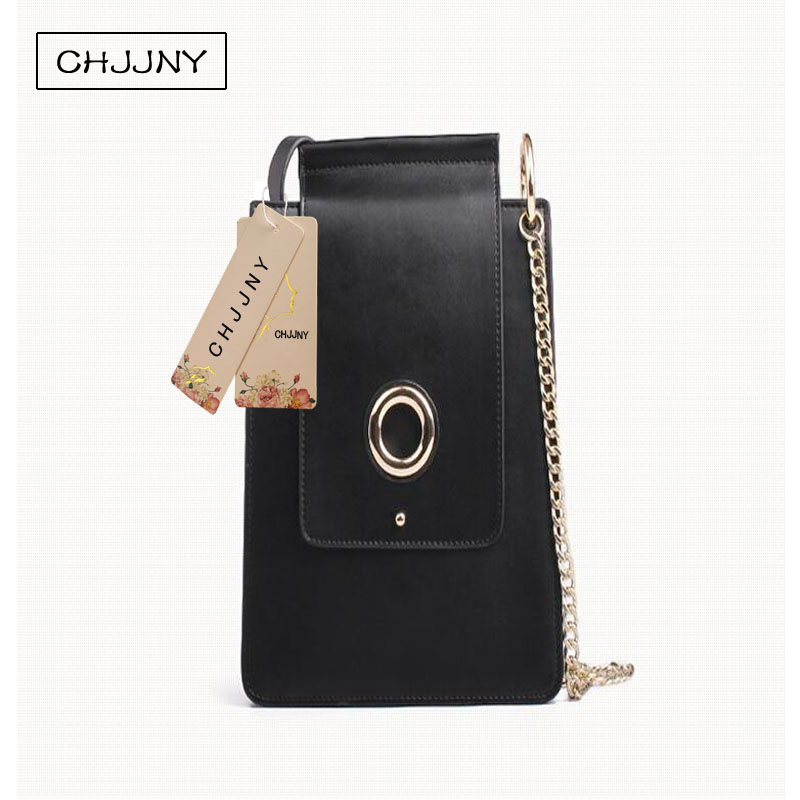 ФОТО CHJJNY 2017 new simple style genuine leather customized vintage women messenger bags cow leather flap bag