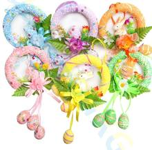 Easter Egg Rabbit Foam Easter Eggs wreath Hanging Crafts Decorations kid kindergarten toys Baskets Ornaments Party Decor