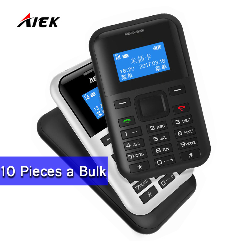 Wholesale Price 10 Pieces a Bulk Original AIEK AEKU C8 500mAh Battery Long Standby Card Phone