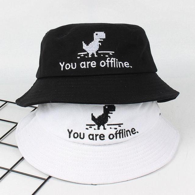 f2cb5cf446b 2018 Creative error page Bucket Hat Unisex Foldable Dinosaur Bob Cap Hip  Hop Gorros Men Summer Caps Panama Fishing Bucket Hat