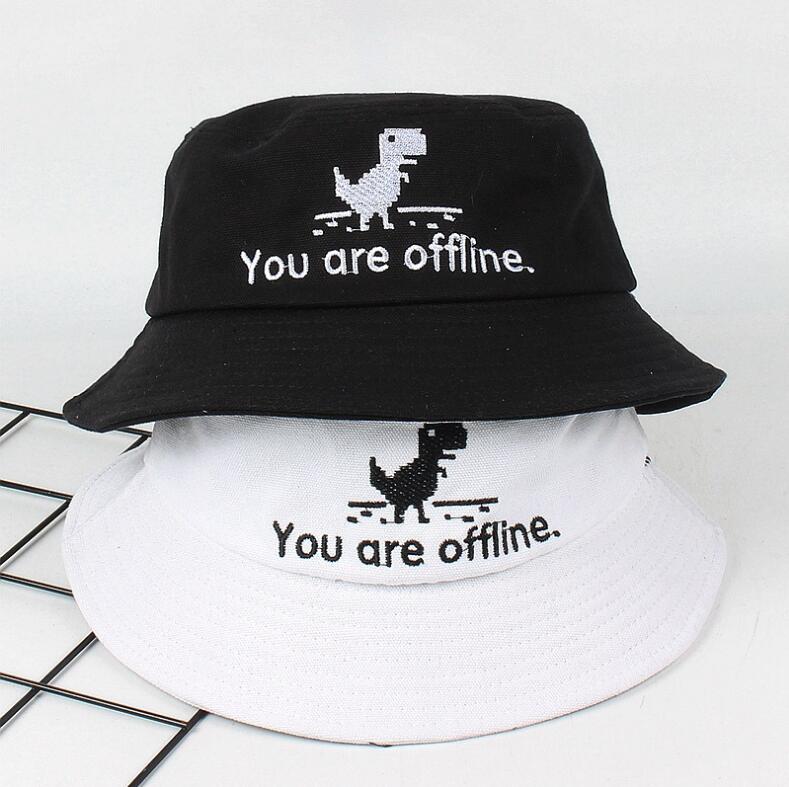 5f22914ae0b 2018 Creative error page Bucket Hat Unisex Foldable Dinosaur Bob Cap Hip  Hop Gorros Men Summer Caps Panama Fishing Bucket Hat