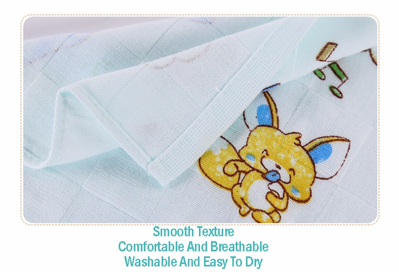Square Cotton Cartoon Baby Bath Towel (15)
