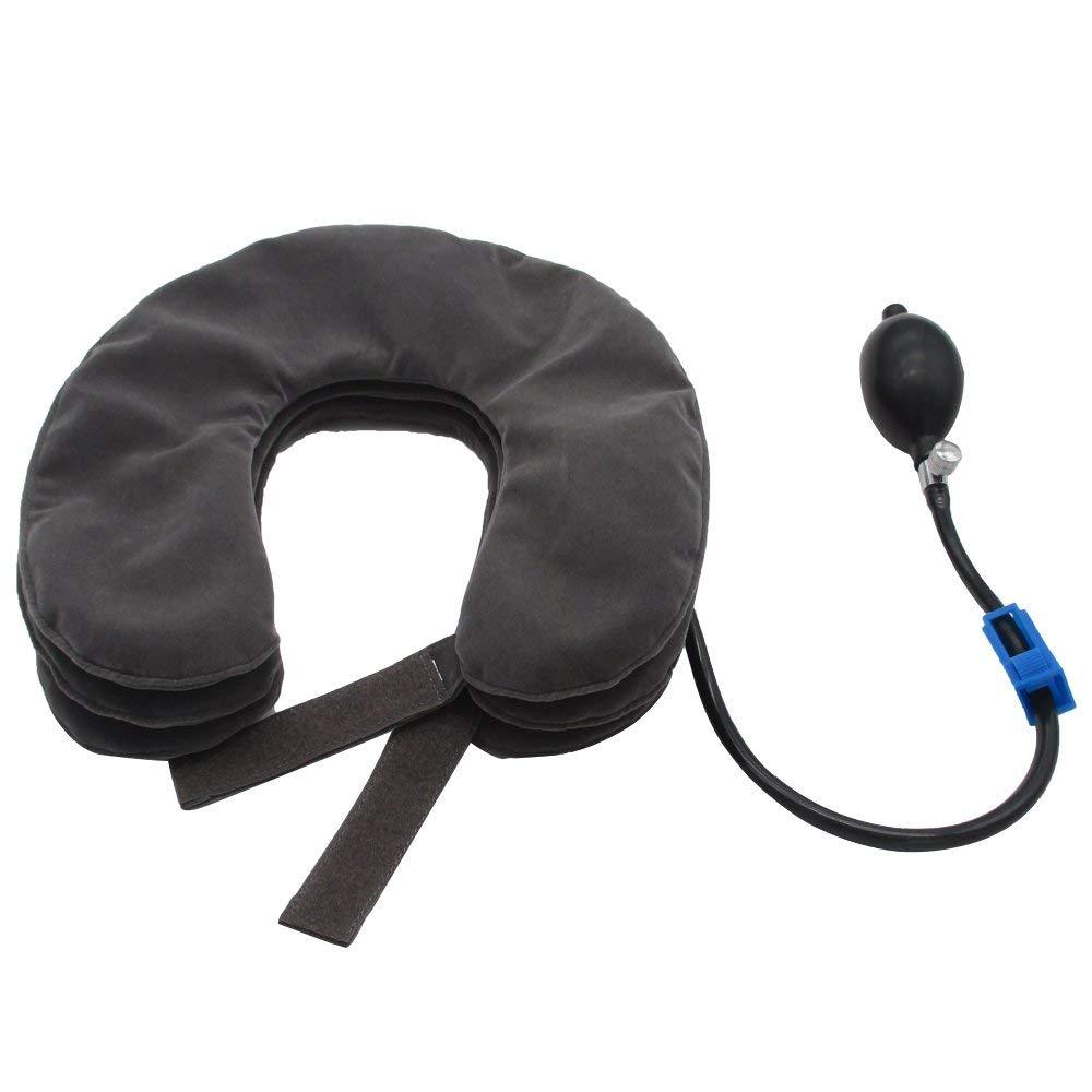 Pescoço inflável tração terapia cervical colar vértebra