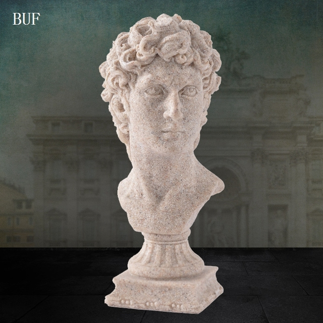 US $15 79  BUF Modern Abstract David Head Statue Sculpture Resin Ornaments  Home Decoration Accessories Gift Geometric Resin Sculpture -in Statues &