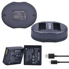 2 шт. DMW-BLG10 DMW BLG10 DMW-BLE9 Камера Батарея + USB двойной Зарядное устройство для Panasonic DMC GF6 GX7 GF3 GF5 DMW-BLG10GK LX100 GX80 GX85