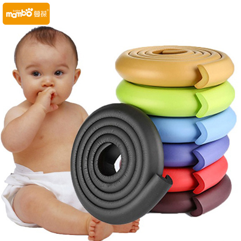 2M Children Protection Table Guard Strip Baby Safety Products Glass Edge Furniture Horror Crash Bar Corner