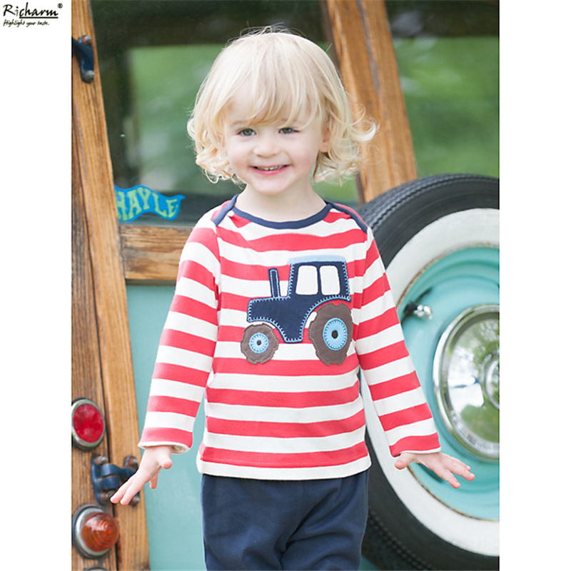 2016 Hot New Fahion Brand Kids Clothes Christmas Boys T Shirt Designer Toddler Baby Boys Clothes Cotton Long Sleeve Tee Shirts
