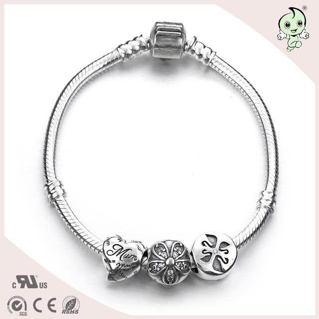Dia das mães presente de natal da forma 925 prata esterlina jóias corações bola flor encantos DIY beads pulseira da amizade pulseras