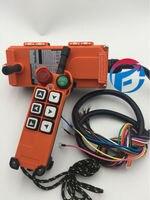 F21 E1 Telecrane Industrial Crane Remote Controls 1 Speed Hoist Switch 6 buttons AC/DC65V 440V (1T+1R)
