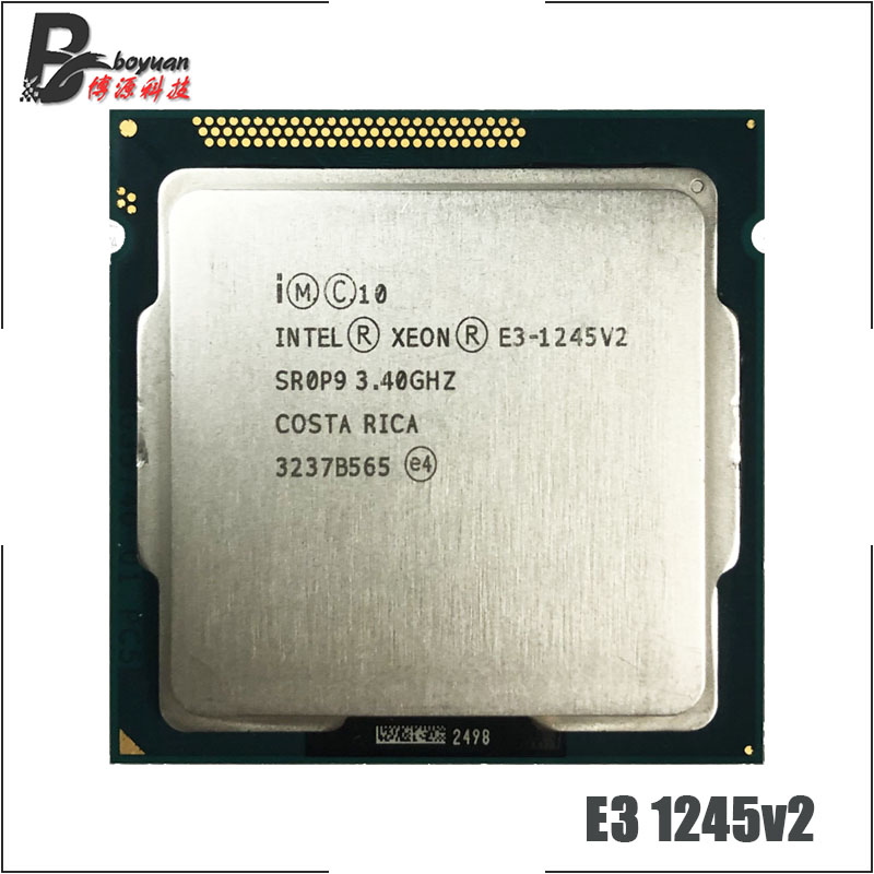 Intel Xeon E3 1245 v2 E3 1245v2 E3 1245 v2 3 4 GHz Quad Core Eight