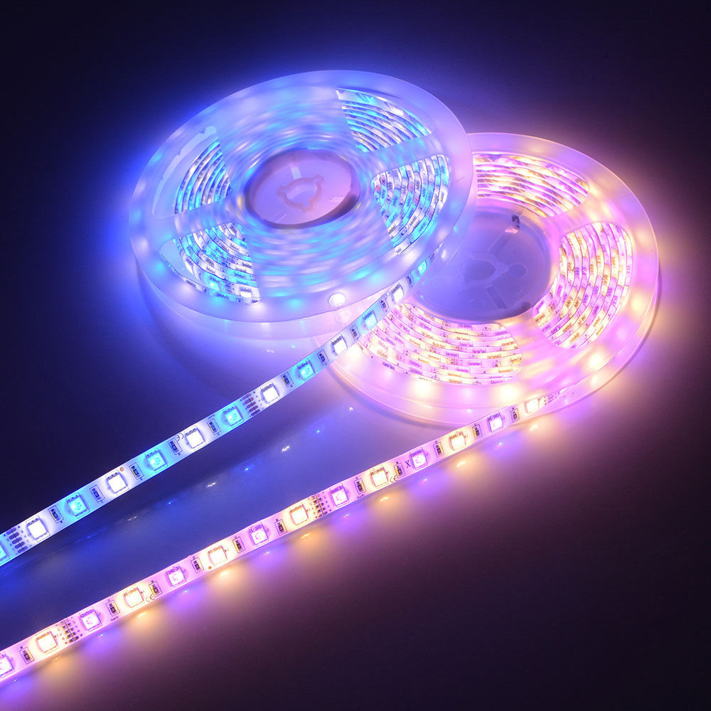 RGBW / RGBWW LED Strip 5050 Waterproof IP65 DC12V 60LEDs/m 5m/lot Flexible LED Light 5050 LED Tape Decoration Lamps