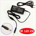For ASUS A8H A8He F3Jv F5M F5N F5R F5RL F6E F9E Laptop Battery Charger / Ac Adapter 19V 3.42A 65W