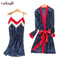 Fdfklak New Women's Sexy Gown Bathrobe For Women Night Gown Set Lingerie Femme Sleeping Set Spring Summer Sexy Sleepwear