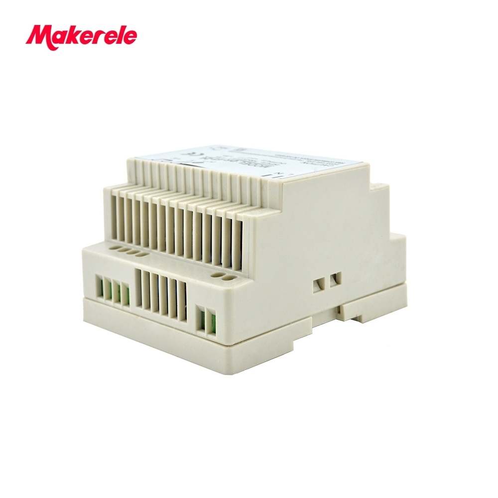 Low price switching power supply LED Din Rail mounted Power Supply Transformer 110V 220V AC to DC 5V 12V 15V 24V 48V 45W Output switching power supply 50w 12v 24v double output ac dc power supply for led strip transformer ac 110v 220v to dc 12v 24v