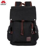 Vbiger Men Canvas Backpack Hiking Travel Rucksack Travel Daypack Canvas Laptop Backpacks Black