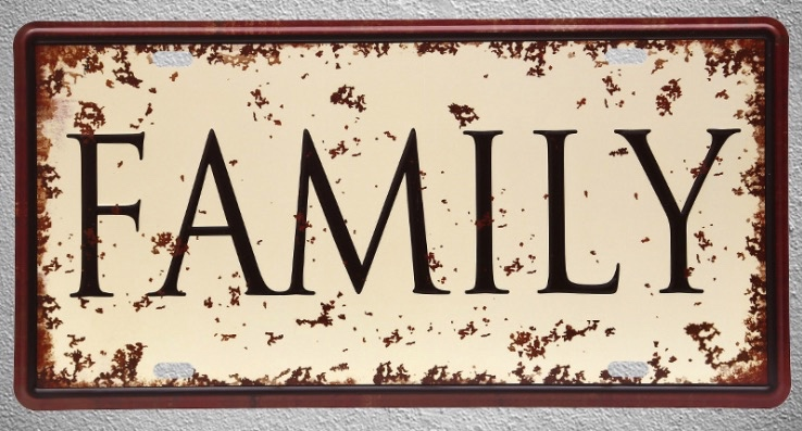 1 pc Family Happy life house home room mum dad Tin Plates Signs wall man cave Decoration Metal Art Vintage Poster in Plaques Signs from Home Garden