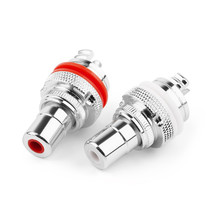 Terminals-Adapter Connectors CMC Copper-Jack Rhodium-Plated RCA Socket-Chassis Female