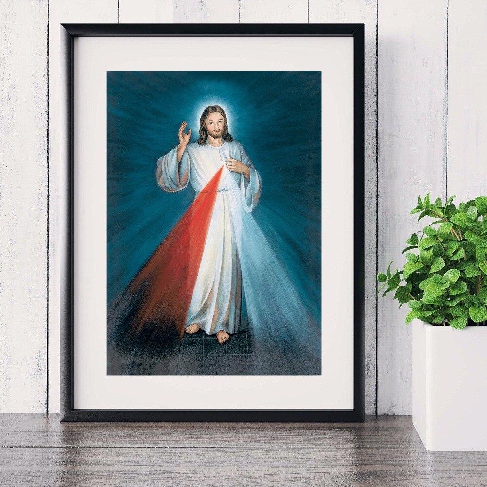 jesucristo brillante retrato pintura canvas art print poster pared cuadros para la sala de tela sin marco decorativo decoracin