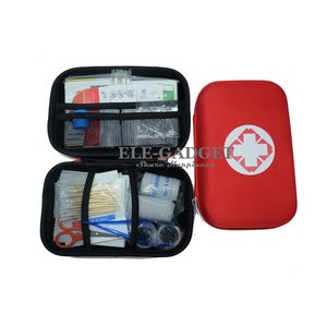 Image 1 - 17 Items/93pcs Portable Travel First Aid Kits For Home Outdoor Sports Emergency Kit Emergency Medical EVA Bag Emergency Blanket