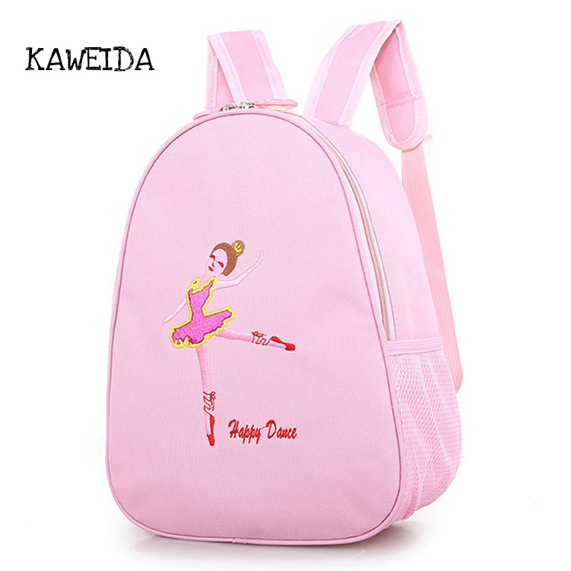Pink Backpack Kids Dance Toddler Shoe bag