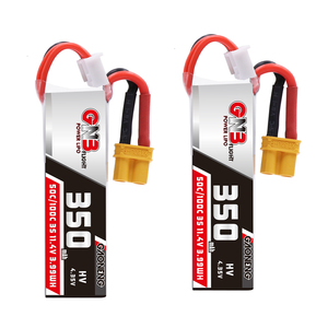 2PCS Gaoneng GNB 350mah 3S 11.4V 50C/100C HV Lipo Battery With XT30 Plug For BETAFPV Beta75X 3S Beta65X 2S Whoop Drones parts