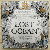 96 Pages English Edition Lost Ocean Secret Garden Style Colouring Book For Relieve Stress Graffiti Painting