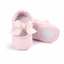 New Spring/Autumn Baby Girl Casual Shoes Slip-On Beautiful Butterfly-knot Comfortable Soft sole PU Leather For Toddler